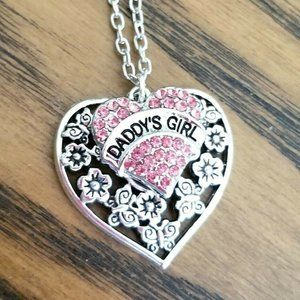 Jewelry - DADDY'S GIRL Necklace Crystal Heart